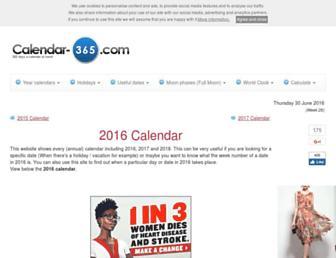 calendar-365.com screenshot