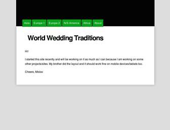 weddings.traditionscustoms.com screenshot