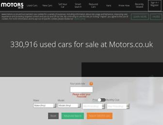 motors.co.uk screenshot