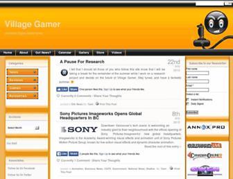 Main page screenshot of villagegamer.net