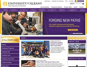 Main page screenshot of albany.edu
