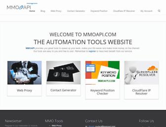 mmoapi.com screenshot