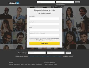 sk.linkedin.com screenshot