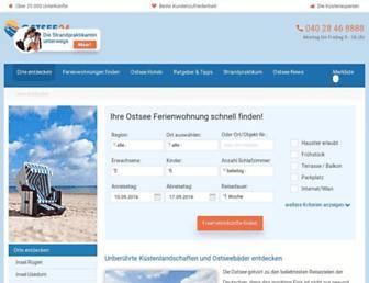 Main page screenshot of ostsee24.de