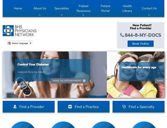bhsphysiciansnetwork.com screenshot