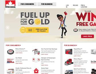 Main page screenshot of petro-canada.ca