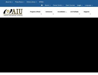 Main page screenshot of aiu.edu