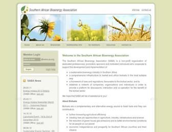 Main page screenshot of saba.za.org