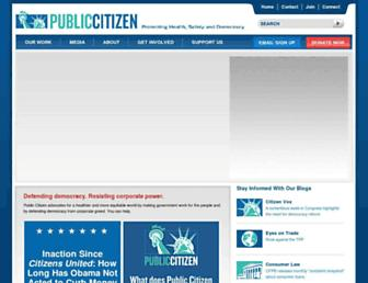 Main page screenshot of citizen.org