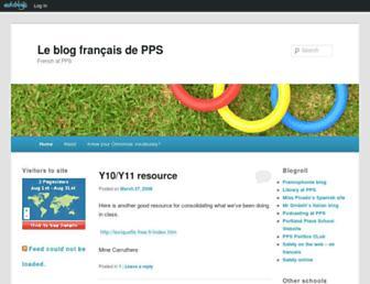 Main page screenshot of blogfrancaisdepps.edublogs.org