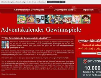 Thumbshot of Adventskalender-gewinnspiele.de