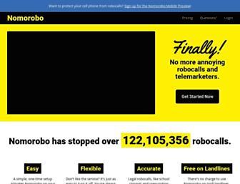 nomorobo.com screenshot