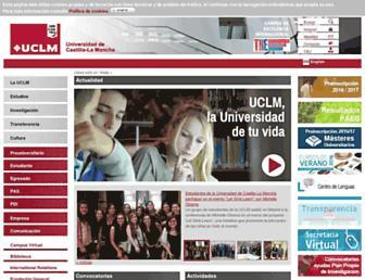 Main page screenshot of uclm.es