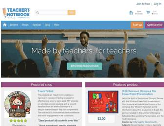 Thumbshot of Teachersnotebook.com
