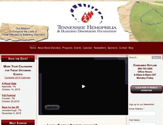 Main page screenshot of thbdf.org