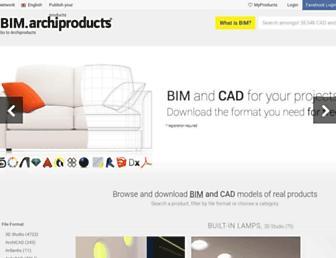 bim.archiproducts.com screenshot