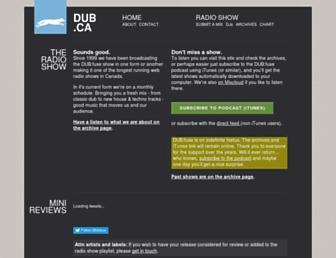 Main page screenshot of dub.ca