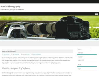 Main page screenshot of howtophotography.org