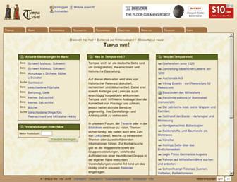 Main page screenshot of tempus-vivit.net