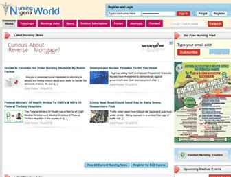 Thumbshot of Nursingworldnigeria.com