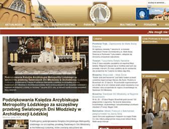 Main page screenshot of archidiecezja.lodz.pl