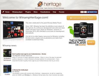 winampheritage.com screenshot