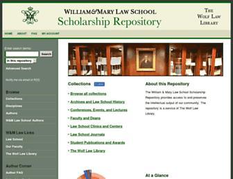 scholarship.law.wm.edu screenshot