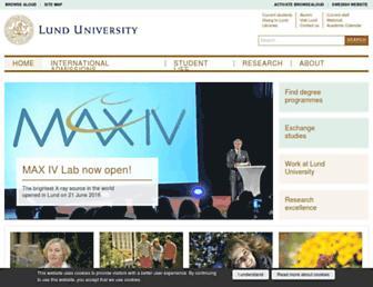 lunduniversity.lu.se screenshot