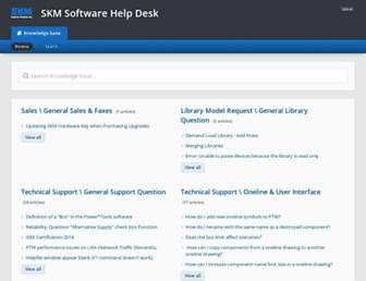 support.skm.com screenshot