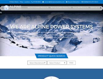 alpinepowersystems.com screenshot