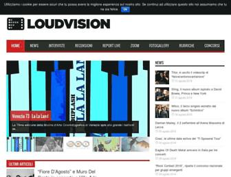 Main page screenshot of loudvision.it