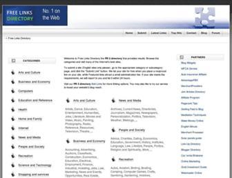 Main page screenshot of freelinksdirectory.net