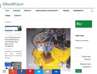 circuitdigest.com screenshot