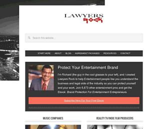 lawyersrock.com screenshot