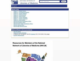 Main page screenshot of nnlm.gov