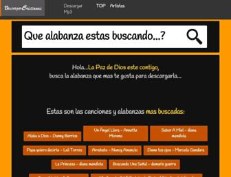descargarcristianas.com screenshot