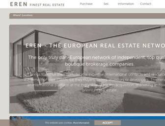 Main page screenshot of europeanrealestate.org