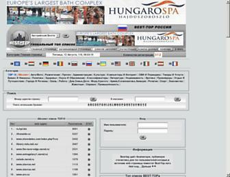 Main page screenshot of ru.best-top.biz