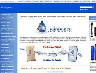 raindancewatersystems.com screenshot