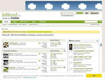 Main page screenshot of hilferuf.de