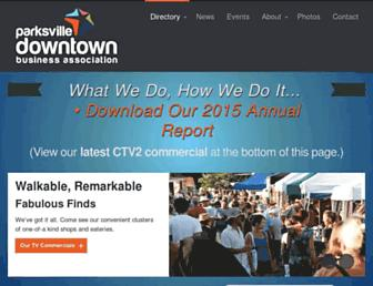 parksvilledowntown.ca screenshot