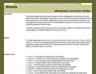bibutils.refbase.org screenshot