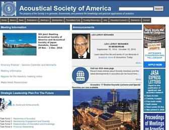 Main page screenshot of asa.aip.org
