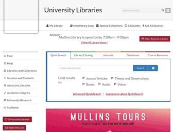 libraries.uark.edu screenshot