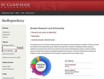 repository.stcloudstate.edu screenshot