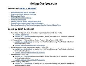 vintagedesigns.com screenshot