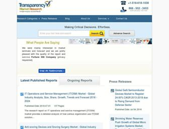 Thumbshot of Transparencymarketresearch.com