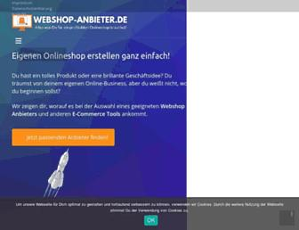 webshop-anbieter.de screenshot