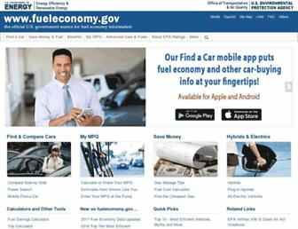 fueleconomy.gov screenshot