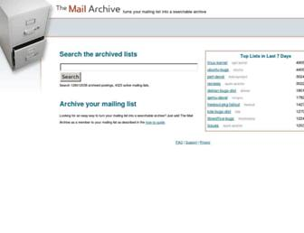 Thumbshot of Mail-archive.com